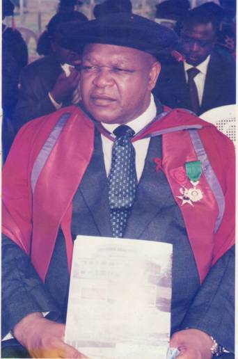 Professor Peter Martins Ndumbe in full academic regalia